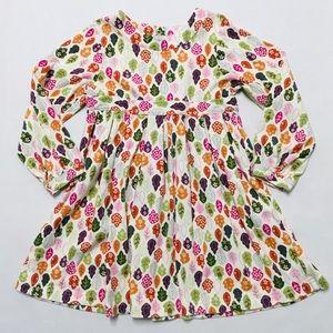5/$25 Gymboree woodland leaf print cotton dress 5T